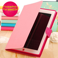 For IPad mini 1/2/3 IPad 2/3/4 Case Cover Mercury Ultra Slim Candy Color TPU Flip Wallet Credit Card Slot Tablet protective+Gift