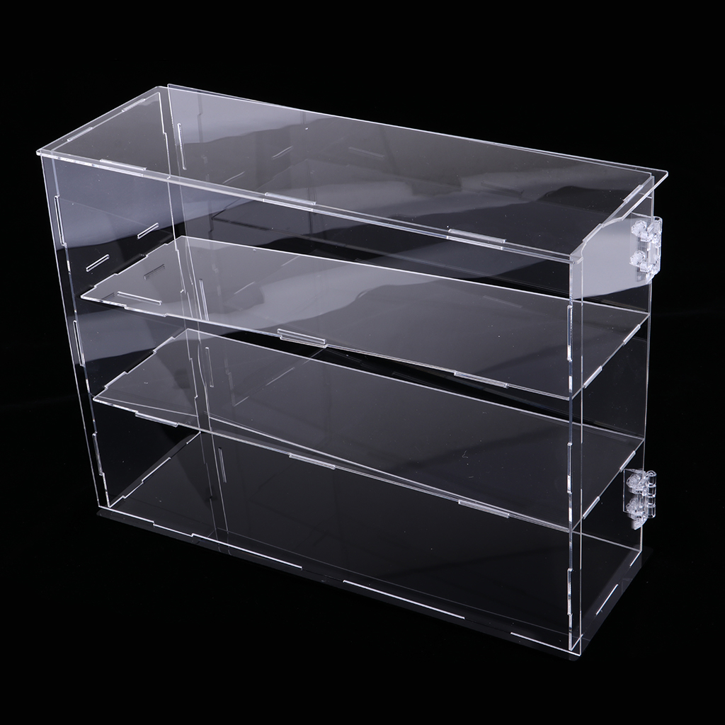 Acrylic Action Figure Doll Display Case Show Box Cube 24x7x33cm Three Layers
