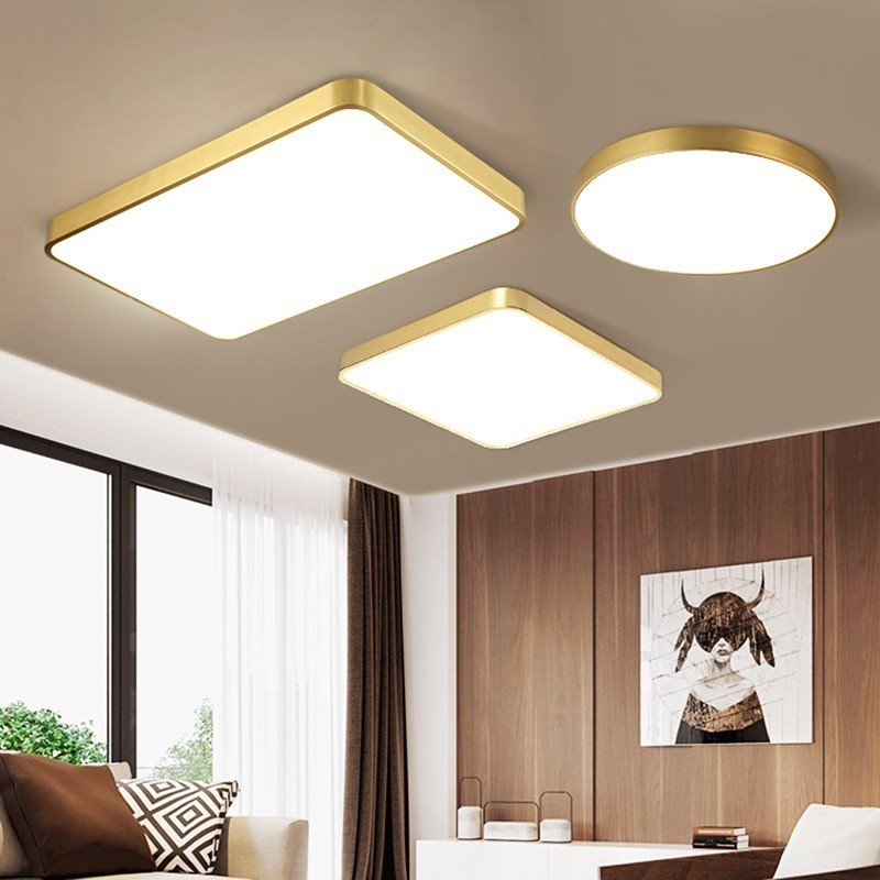 Copper body Nordic lamp Modern Led Ceiling Lights For Living room Bedroom Study room light American Ceiling Lamp FixturesCopper body Nordic lamp Modern Led Ceiling Lights For Living room Bedroom Study room light American Ceiling Lamp Fixtures