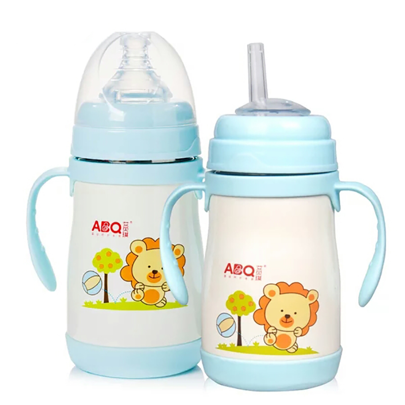 Dropshipping Baby Bottle Feeding Bottles Insulation Stainless Steel Bottle For Feeding Baby Drinker Cup Drinker With A Straw