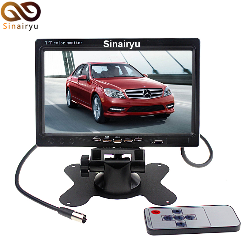 HD 800*480 7 Car Rear View Monitor TFT Color LCD Headrest Monitor Video PLayer With 2 Video Input Parking Assistance Monitor diykit 7 inch 4pin connector tft lcd car monitor rear view monitor with 2 video input