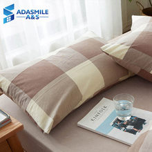 1piece Classic Cotton Sleeping Pillowcases Micorfiber Soft Adult Bedroom Bed Plaid Bedding Pillowcovers(China)