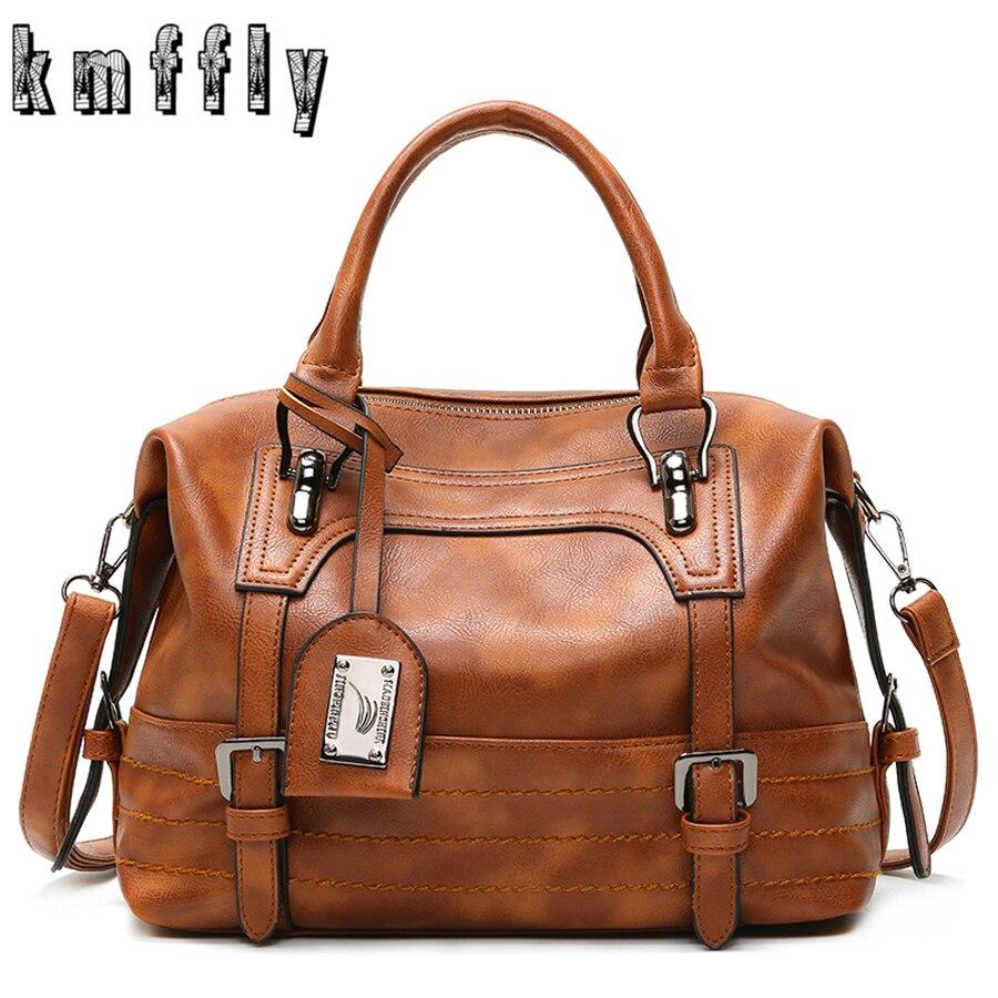 KMFFLY Vintage Handbags Tote-Bag Sac Female Femme Casual Women Simple Luxury Famous-Brand