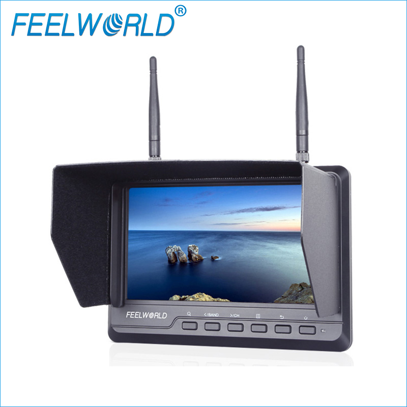 FPV720 7 Inch FPV Monitor 1024x600 IPS Dual 5.8G 40CH Diversity Receiver Feelworld LCD Monitor 7inch Wireless Drone Monitor