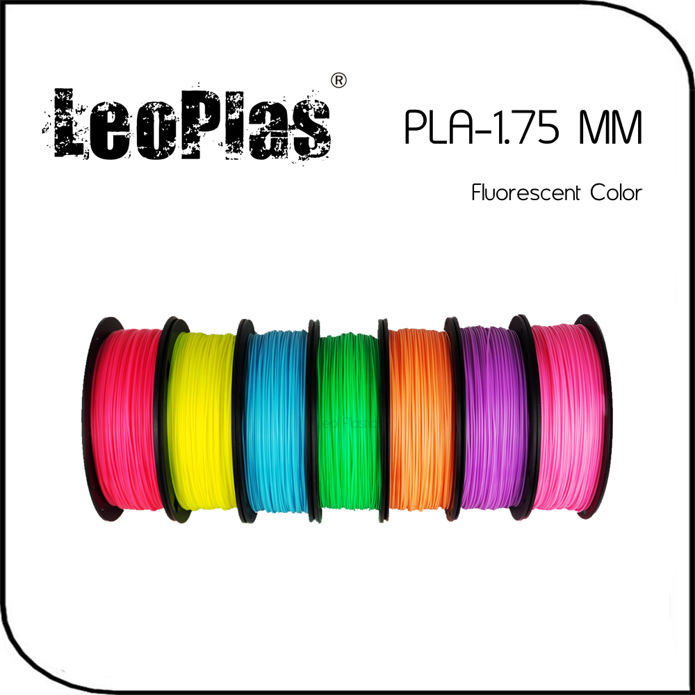 Worldwide Fast Delivery Direct Manufacturer 3D Printer Material 1kg 2 2lb 1 75mm Fluorescent Color PLA