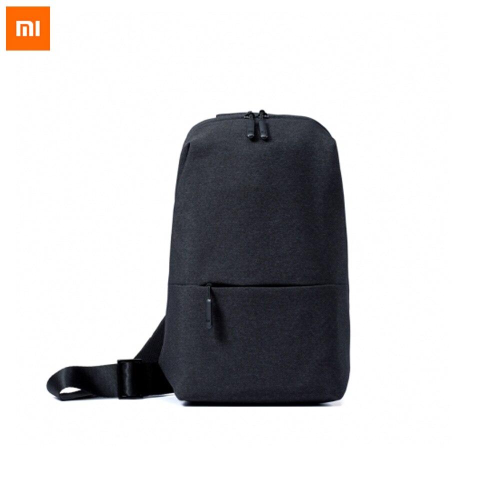Original xiaomi ocio urbano de la mochila Paquete de pecho para hombres mujeres tamaño pequeño hombro tipo mochila unisex para los teléfonos de la Cámara DVD