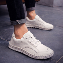 2018 Leather Shoes Men Summer Breathable Soft Bottom Mens Leisure Trend Personality with Low Hand Young 5
