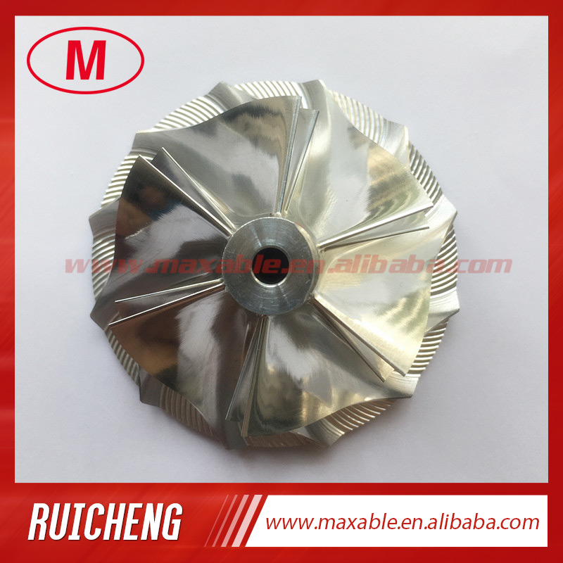 GT15-25 702549-0008HF V1 50,20/65,00 мм 6 + 6 лопасти турбо заготовка/Фрезерование/алюминиевый 2618 компрессорный круг для 702549-0008HF