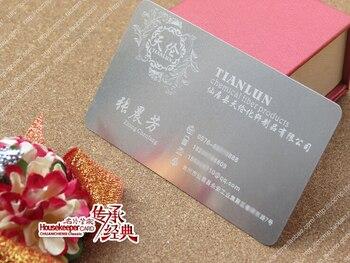 Metallic Color, metal business cards , 100pcs a lot  Deluxe Metal Business Card Vip Cards,Double-side free shipping  NO.3035
