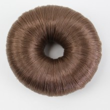 JOY&BEAUTY 4Color Donut Chignon Women Synthetic Fiber Hair Bun Donuts Ring Blonde Hair Extension Wig(China)
