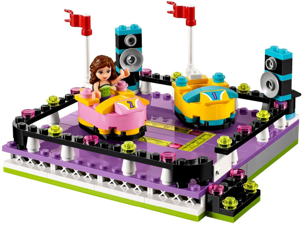 LEPIN Friends Amusement Park Bumper Cars Building Blocks Classic For Girl Kids Model Toys Marvel Compatible Legoe