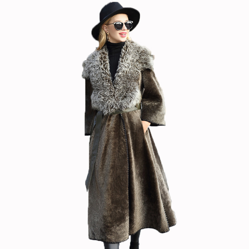 Real Vintage Clothing: Natural Pure Real Fur Coat Autumn Winter Jacket Women