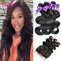 360 Frontal With Bundles Brazilian Virgin Hair Body Wave With 360 Lace Frontal With Bundle 3 Bundles Body Wave With Closure 7A