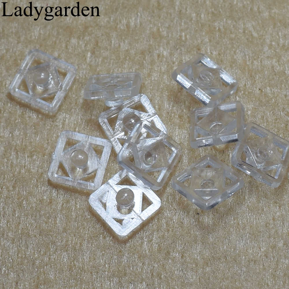 200sets Square Clear Plastic Press Snap Button Studs Garment Sewing on  Clothes Baby Clothes Button Sewing Accessories 10mm