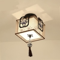 Chinese Style Cloth Pendant Light Ceramics Simple Corridor Bedroom Study Restaurant Lamps And Lanterns Lighting Pendant