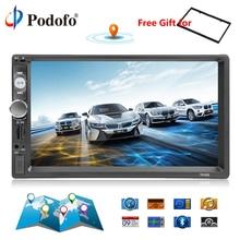 Podofo 2din Car Radio 7″ GPS Navigation audio Radio Bluetooth Autoradio MP5 Player Car Stereo USB SD Multimedia Rear View Camera