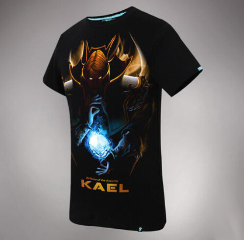 DOTA 2 Kael Hero Tee 3D Black Mens T-shirts