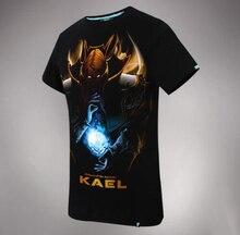 DOTA 2 Kael Hero Tee 3D Black Mens T-shirts
