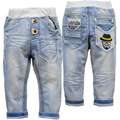 3603 FREE SHIPPING soft denim pants BOY jeans baby  boyS  jeans  baby  jeans spring light  blue casual pants children's trousers