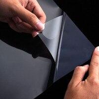 Película para Ventanas de vidrio Cabina De Ducha Transparente Auto-adhesivo de Tipo Anti-explosión de Cristal Ventanas de Espejo Esmerilado Privacidad Stained película
