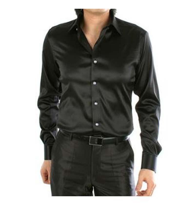 Compare Prices on Black Silk Dress Shirts for Men- Online Shopping ...