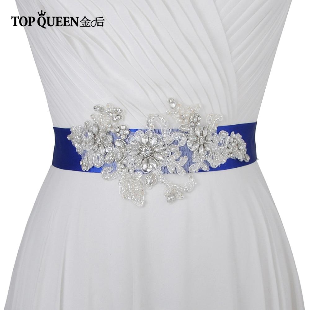 TOPQUEEN S139 Free Shipping Women's Rhinestones Belt  Wedding Evening Dress Sash Belts Bride Belt Sash For The Party Women Belt