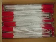 10 pçs extra grosso fibra de vidro vara arte dança streamers fita de ginástica girando haste 49cm 60cm preto vermelho frete grátis