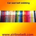 100 yardas por ROLLO 48mm ancho de tejido del cinturón de seguridad Harness Racing Cinturón de Seguridad Del Asiento de coche auto 24 color disponible