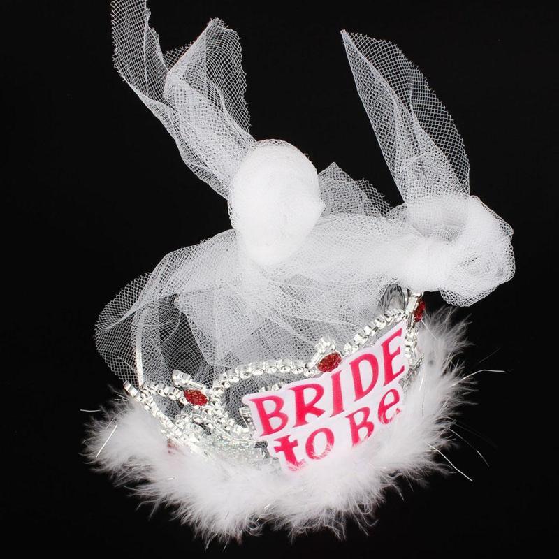 1pcs Brud att vara Veil Bridal Crown bröllop Tillbehör Bachelorette - Semester och fester - Foto 3