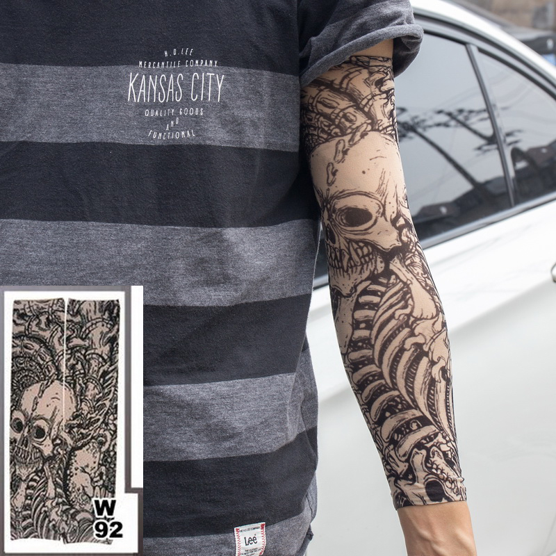 Men's Arm Warmers Beautiful Women Men Tattoo Print Arm Warmer Fashion Thin Spring Summer Sun Protect Long Arm Warmer Party Decor Sleeves Apparel Accessories