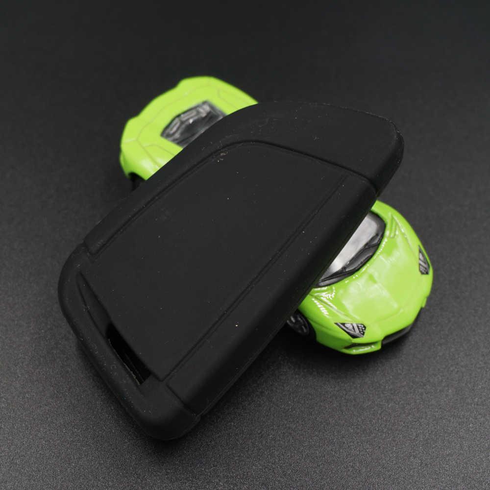 50 Uds Xinyuexin funda de silicona para llave del coche caso para BMW 2016 2017 X4 X5 X6 540, 740, 750, 5 7 Serie caja de llave remota inteligente 4 botones