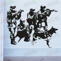 Free Shipping Wall Stickers Wholesale And Retail Wall Decor PVC Material Decals Wallpaper Mural Soldiers On
