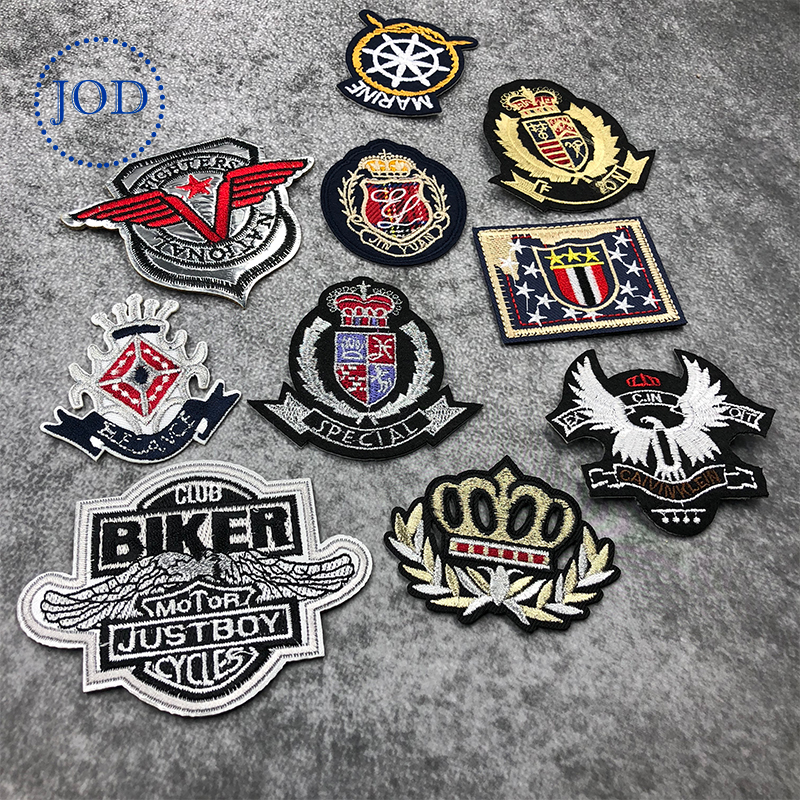 JOD Army Embroidery Military Patch Clothes Applique Tactical Iron on Biker Patches for Clothing Stickers Crown Badges Decorative in Patches from Home Garden