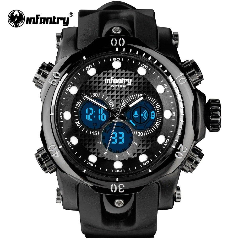 Military Digital Quartz Wristwatch   Big Army Tacticalsilicone