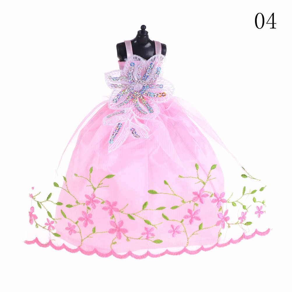 Uma Peça Elegante Lady Casamento Moda Festa Vestido de Princesa Vestido Bonito Outfit Roupas Para Boneca Das Meninas Presente Pick 8 Cores