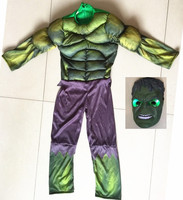 Child Avengers Kids Boys Hulk Cosplay Costumes Muscle Halloween Costumes With LED Masks