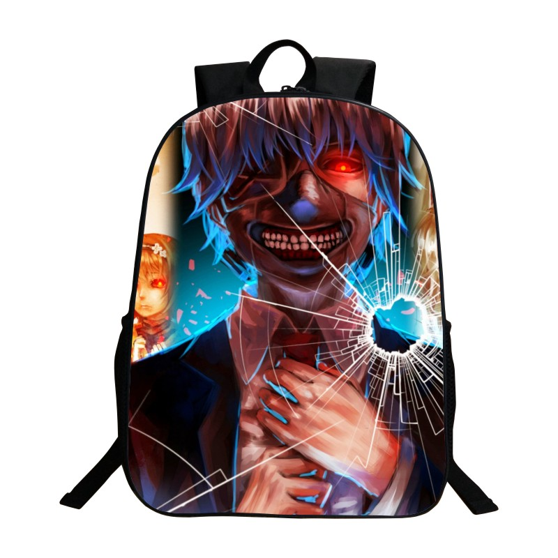 Hot Sale Printing 3D Tokyo Ghoul Oxford Unisex School Backpack for Children Cartoon Kids Baby School Bags for Teengers Boys Girl