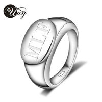 UNY Ring 925 Sterling Silver Custom Engrave Rings Family Heirloom Valentine's Women Love gifts Ring Personalized Mothers Rings