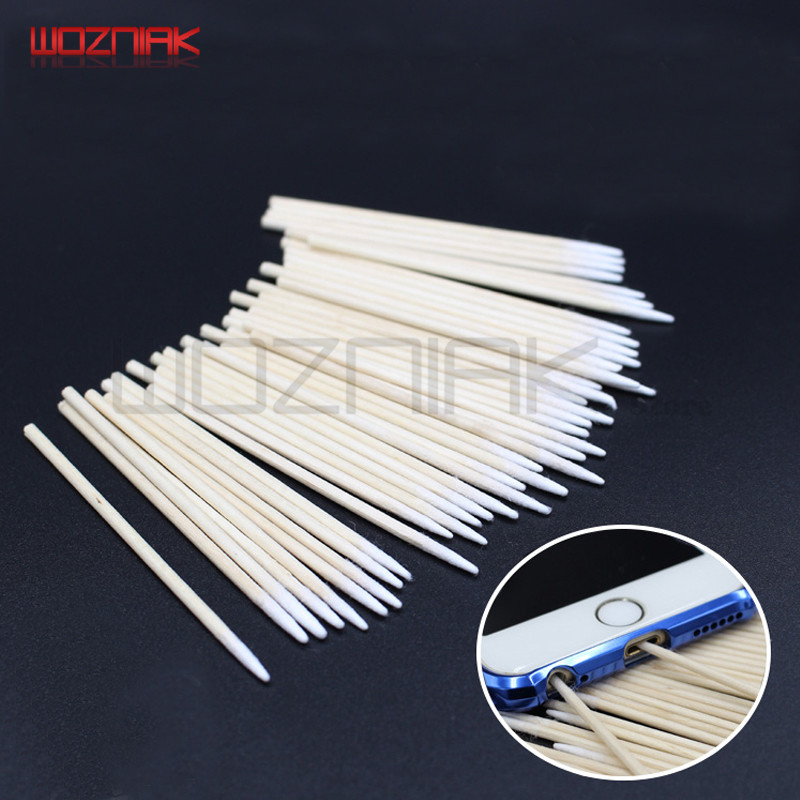 Charging Interface Cotton Swab Cell Phone Headphone Hole Cleaning Cotton Rod Water Absorption And Leakage Prevention 100pcs