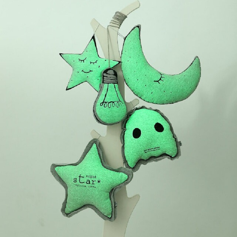 Creative Glow In The Dark Stuffed Plush Moon Star Bulb Anti Ghost Owl Cushion Pillow Toys Nordic Kids Baby Room Decoration чайники заварочные elan gallery сувенир чайник райская птица