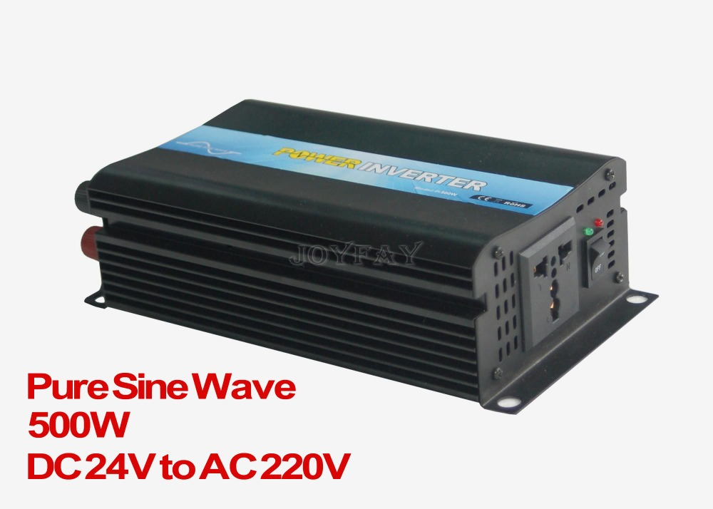 Brand New High Quaility 500W Pure Sine Wave DC 24V to AC 220V Power Inverter new lp2k series contactor lp2k06015 lp2k06015md lp2 k06015md 220v dc