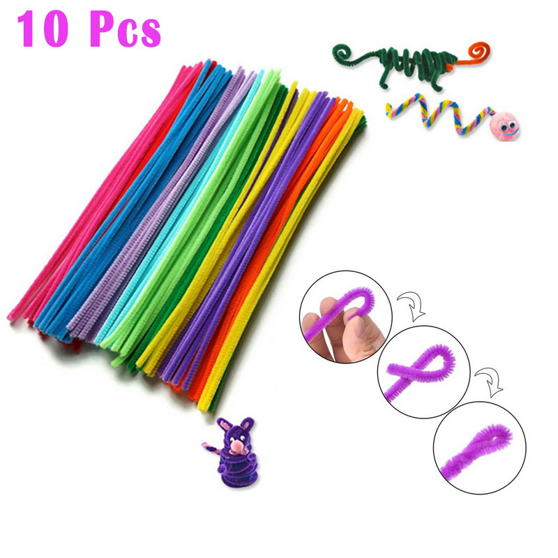 10pcs DIY Craft Toys Montessori Materials Children Puzzle  Plush Sticks Pipe Cleaner Handmade Toy Educational Toys