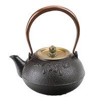 1L South Japanese Cast Iron Tea Pot Gourd Kettle Creative Kung Fu Teapot