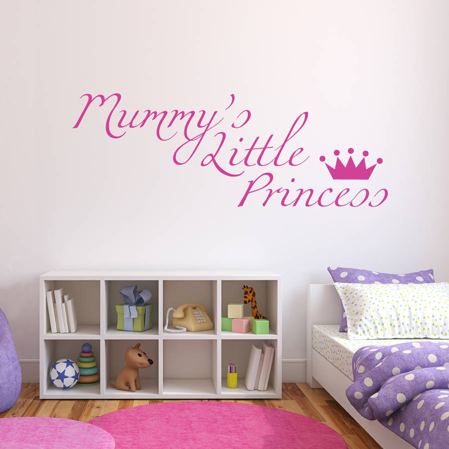 Nursery Wall Stickers Crown Mummy S Little Princess Wall Decals For Bedroom Sweet Quotes Decor Mural Removable