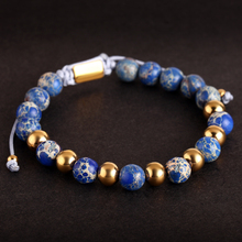 Fashion Beaded Bracelet for  Men Gold/Silver Crown Lace-up