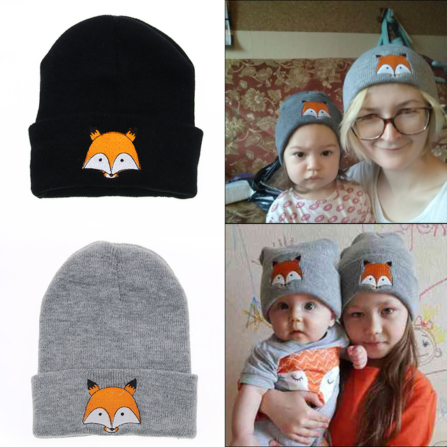 Baby Kids Autumn Winter Warm Cotton Beanie Hat Toddler Girls Boys Caps Cute  Baby Cartoon FoX fff5f6fe939