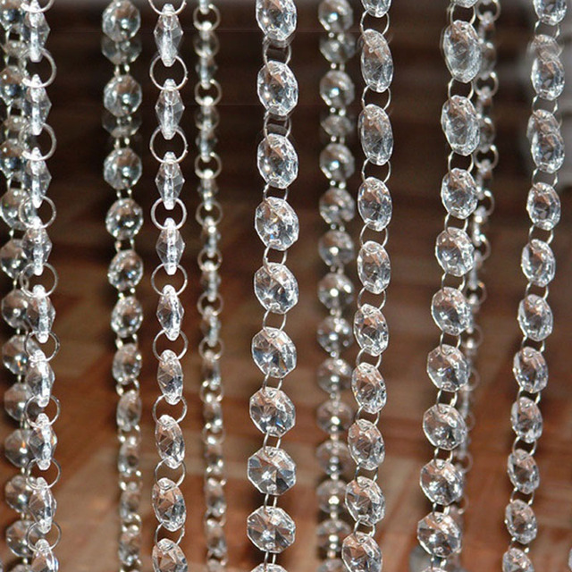 FT Crystal Clear Acrylic Bead Garland Chandelier Hanging Window - Acrylic chandelier crystals bulk