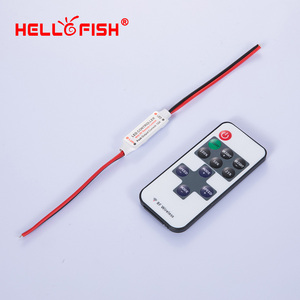 Image 5 - RGB LED strip mini controller dimmer IR Infrared RF Wireless Remote 44 24 17 key Hello Fish