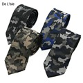 Nuevo Diseñador de Moda Jacquard Militar Camo Camuflaje Flaco Corbata Estrecha Corbata de Microfibra Nano Hombres Impermeables Regalo