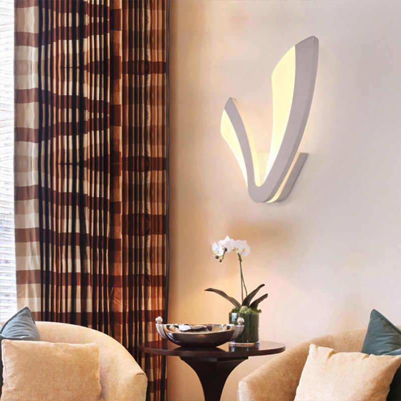 Современные акриловые светодиодный настенный светильник черный и белый Бра, настенная Светодиодная лампа для гостиной Спальня столовая Кухня Креативный светодиодный Wandlamp